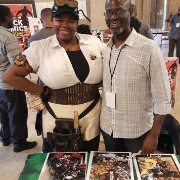 With Jiba Molei Anderson, founder of Griot Enterprises and creator of 4 Pages | 16 Bars: A Visual Mixtape: Sequential Graffiti.